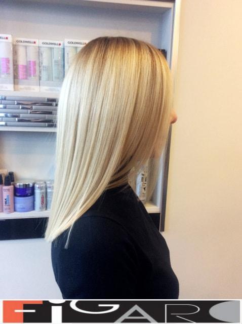 Покраска волос блондирование