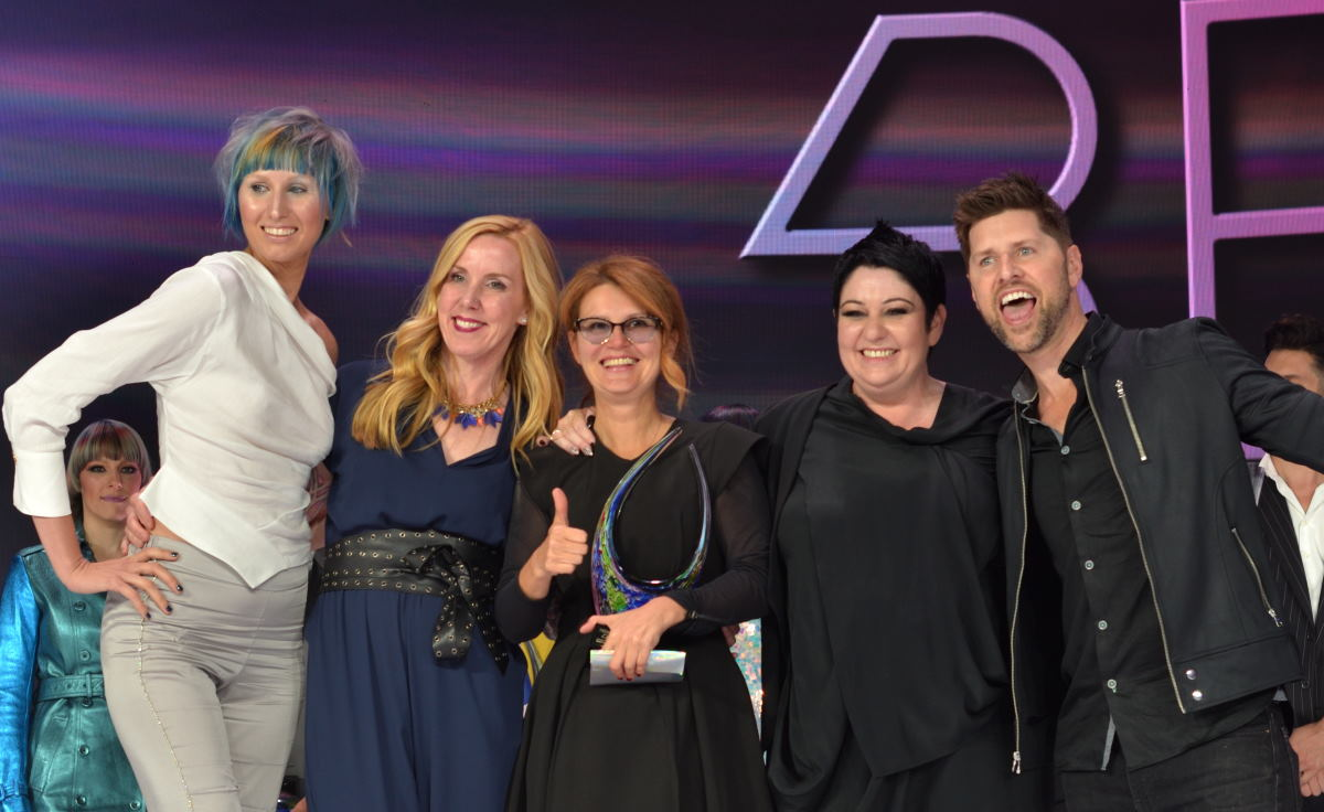 Elena Bogdanets is Wella 2019 Canadain Color Artist of the year 2019. At North American final & Award Ceremony in LA, USA on July 22, 2019